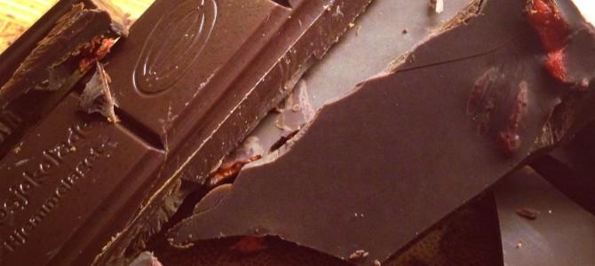 Sjokolade med kokos og gojibær