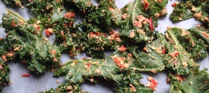 Spicy grønnkålchips